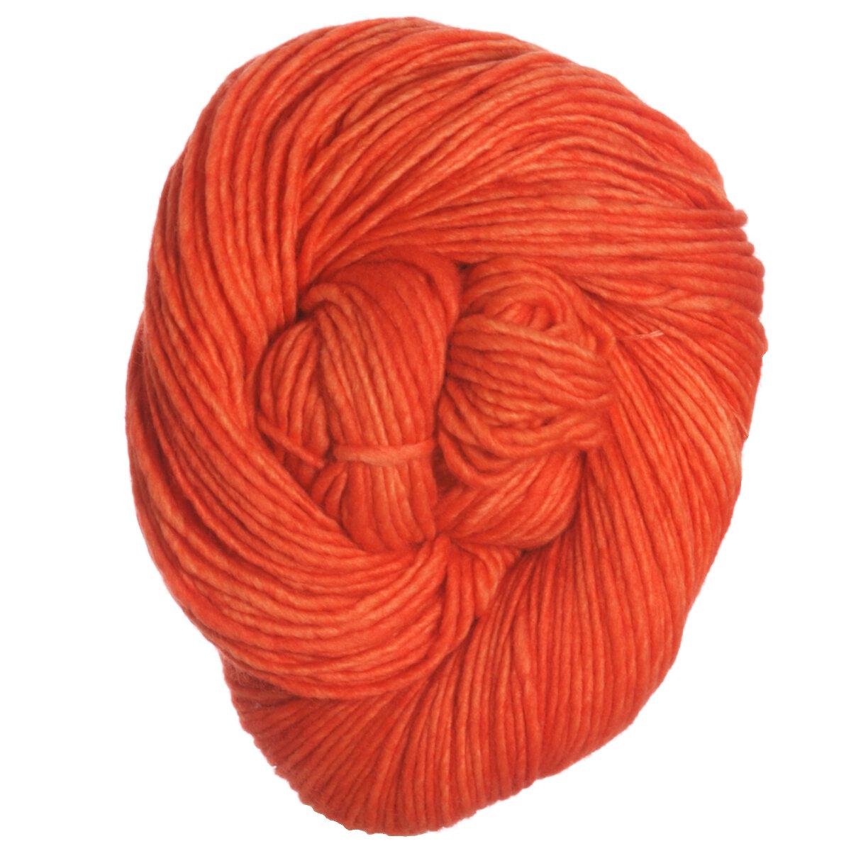 Worsted Yarn : Malabrigo Worsted Merino Yarn - 152 - Tiger Lily at Jimmy Beans Wool