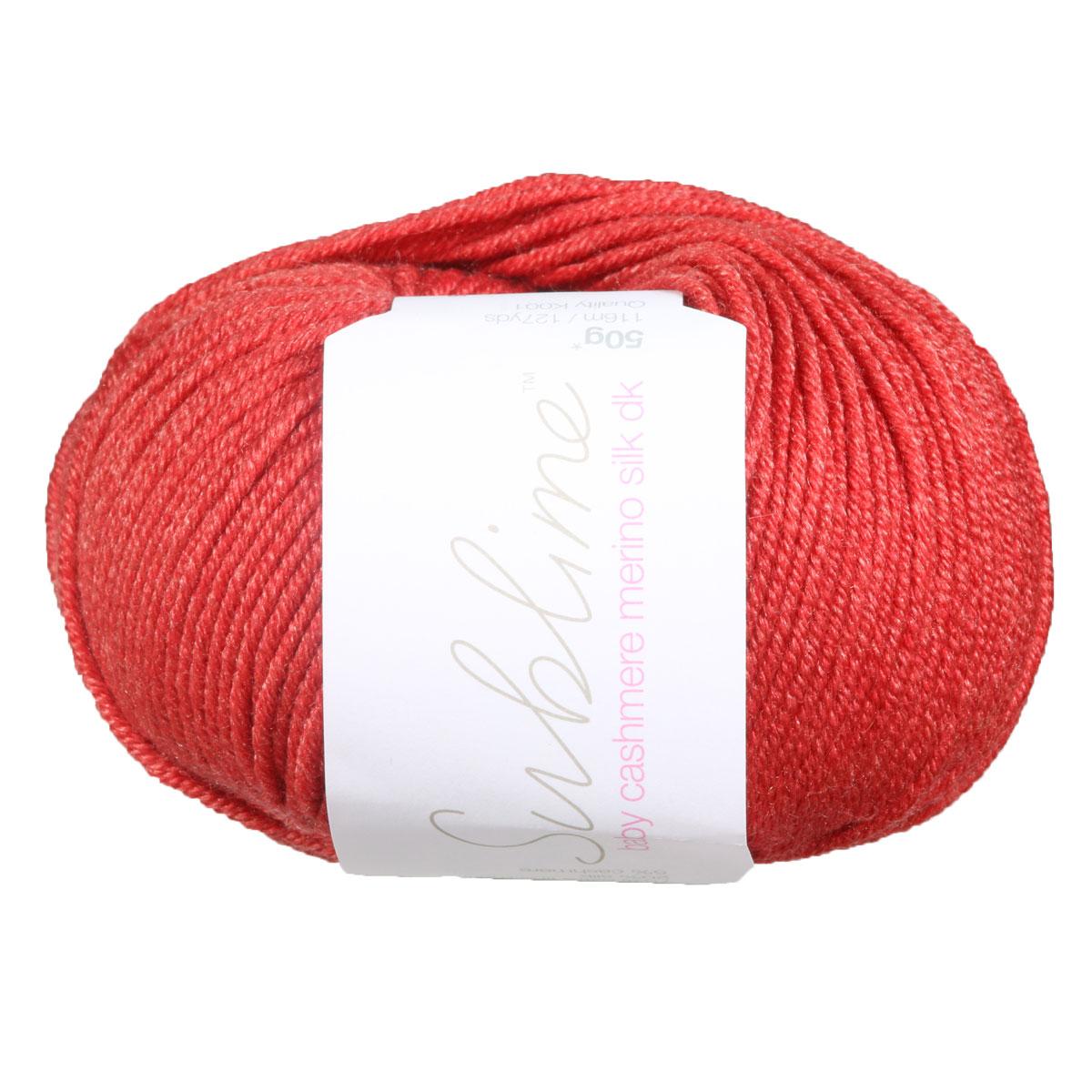 Sublime Baby Cashmere Merino Silk DK 192 Teddy Red Knitting WoolYarn Cashmerino