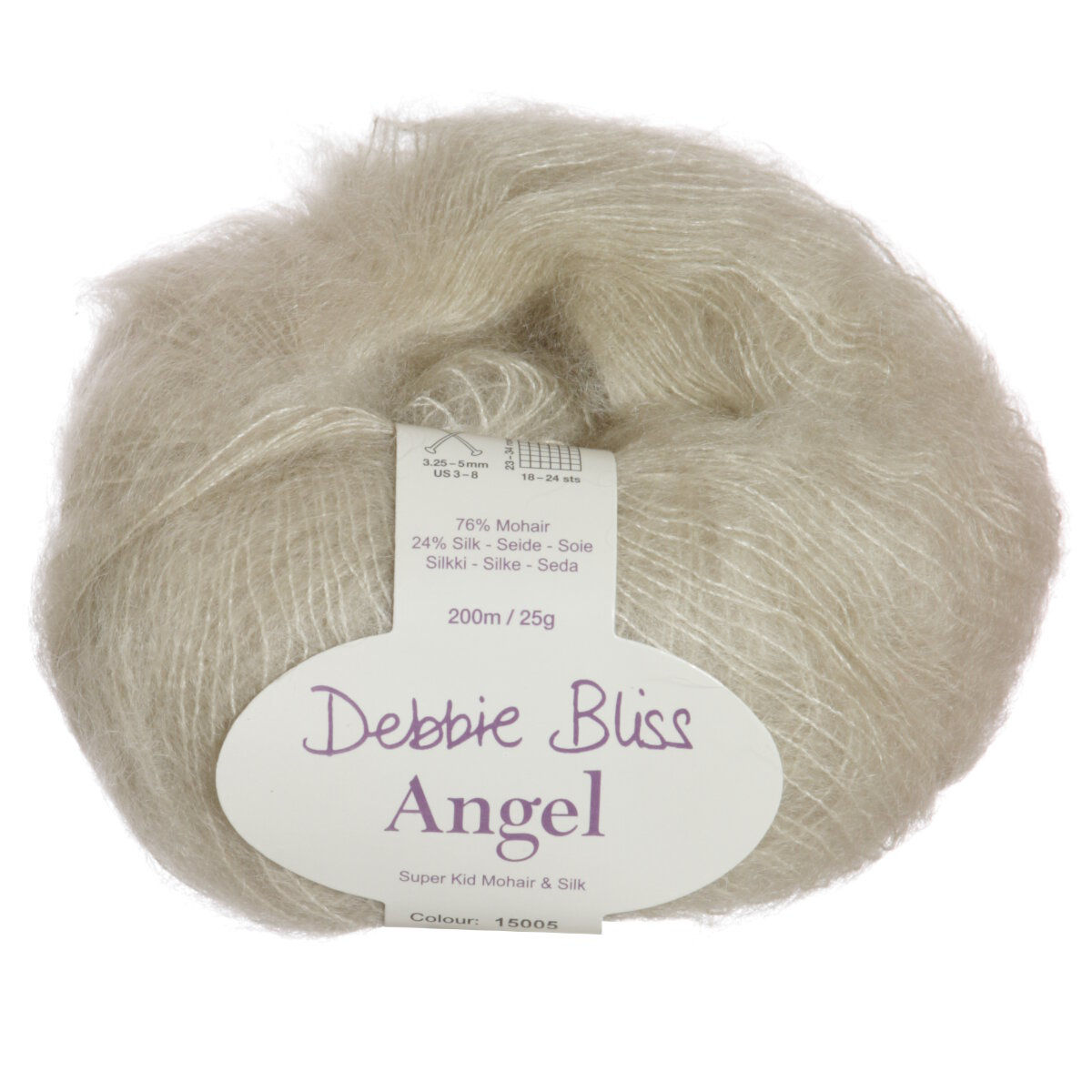 Knitting Patterns Debbie Bliss Angel : Debbie Bliss Angel Yarn - 05 Stone at Jimmy Beans Wool