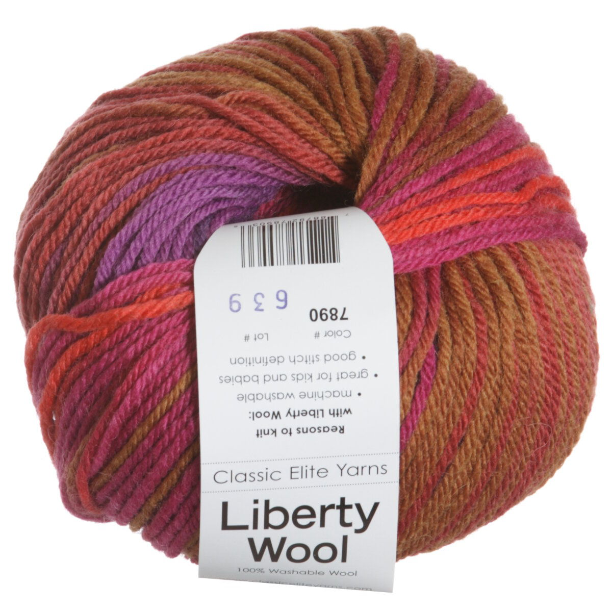 Classic Elite Liberty Wool Print Yarn - 7890 Ultra Violet Autumn at Jimmy Bea...