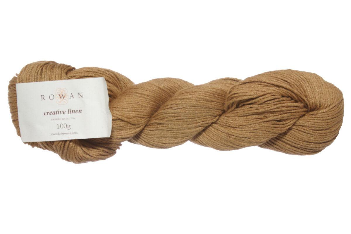 Rowan Creative Linen Yarn 628 Ochre Discontinued