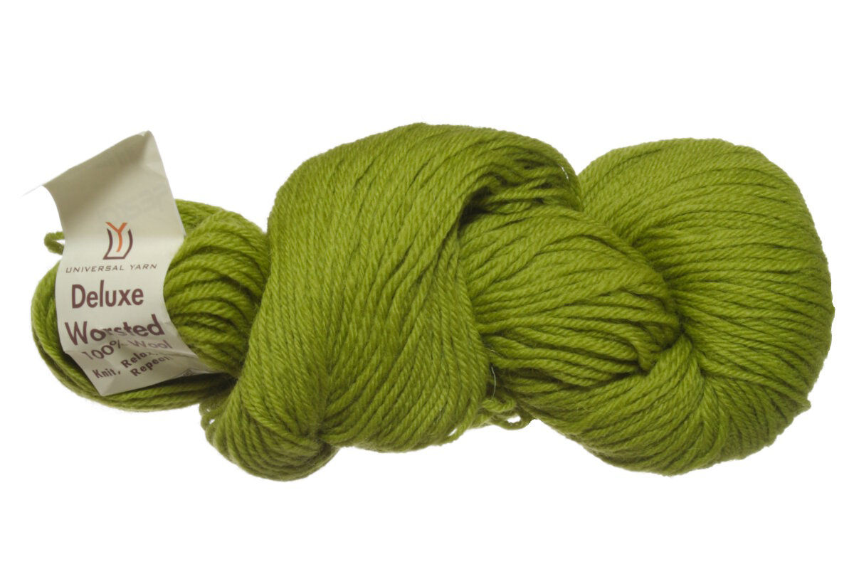 Universal Yarns Deluxe Worsted Yarn 12224 Chartreuse