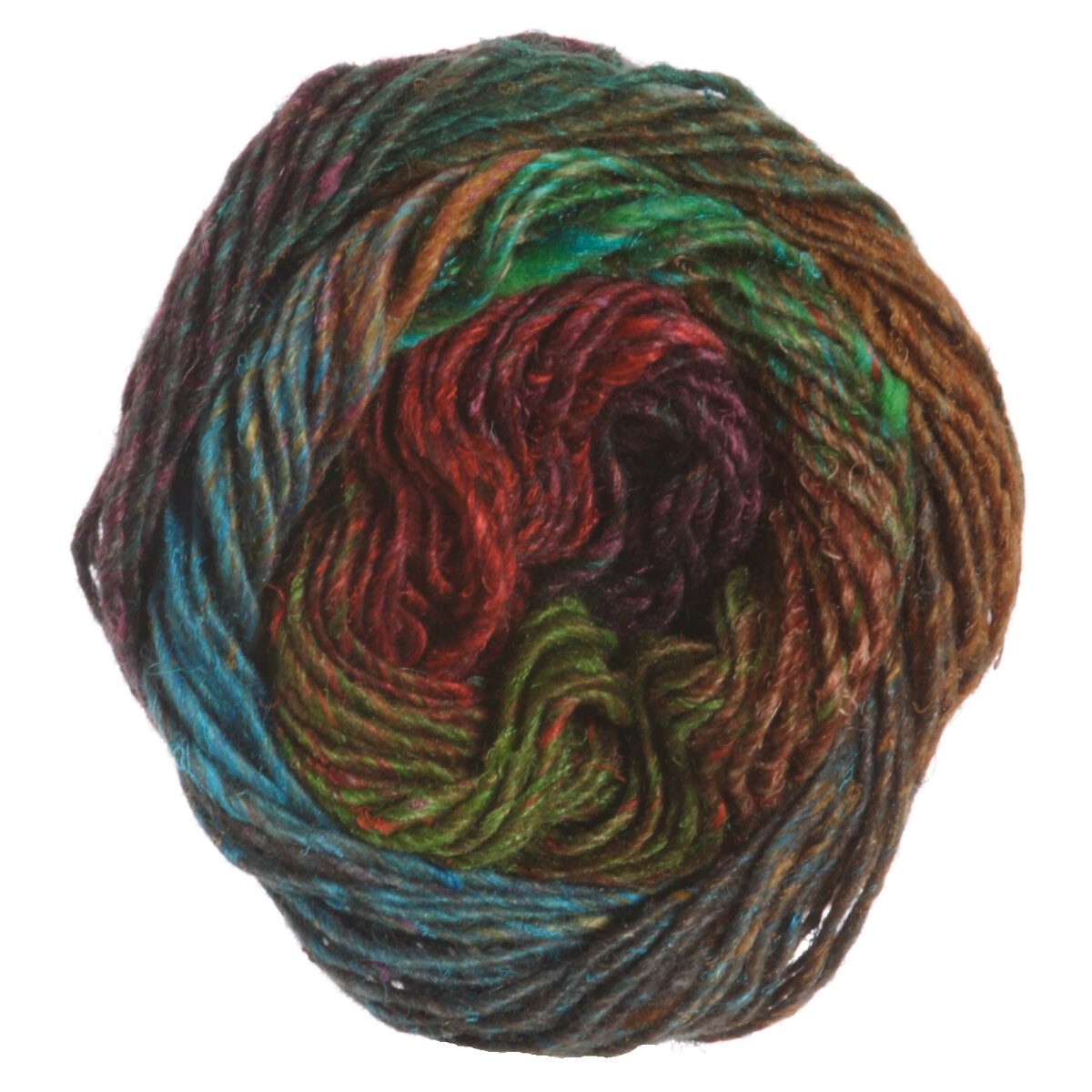 Noro Silk Garden Yarn - 381 Rust, Turquoise at Jimmy Beans Wool