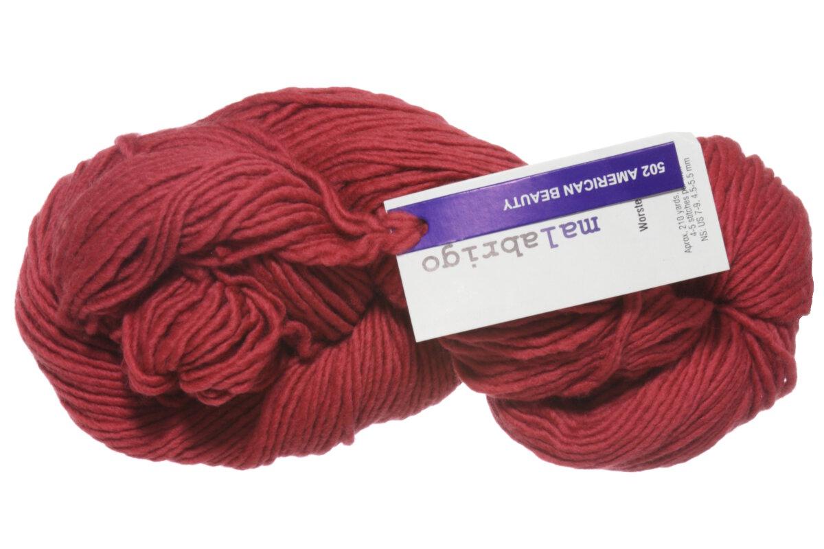 Malabrigo worsted merino yarn 502 american beauty for Beauty project ideas