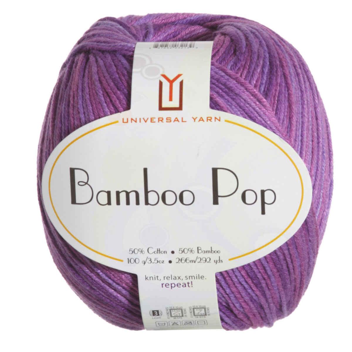 Universal Yarns Bamboo Pop Yarn 210 Orchid Smash At