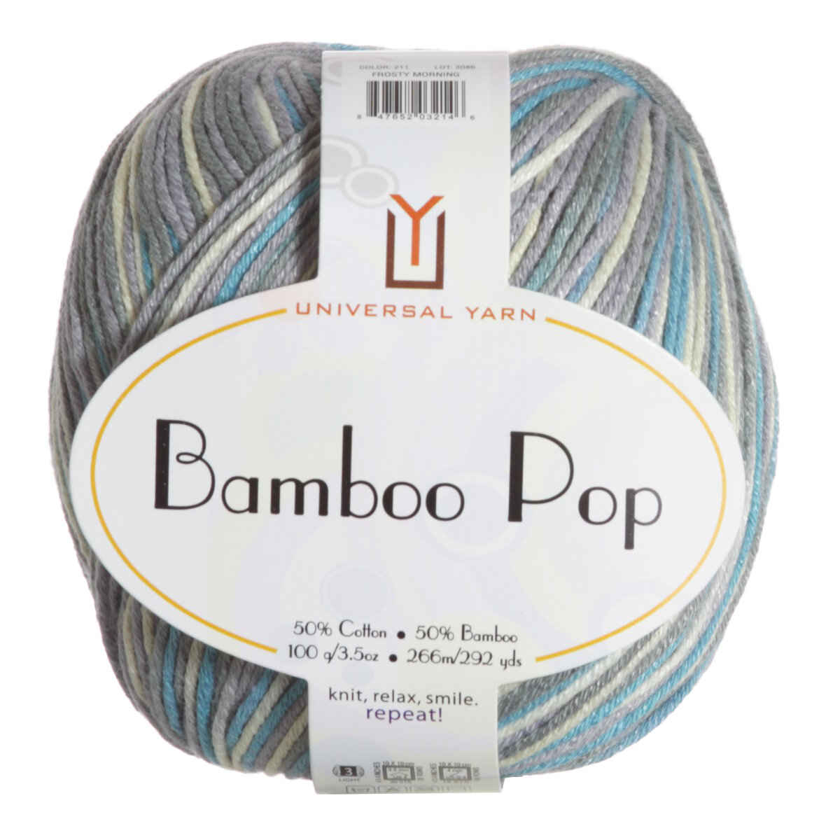 Universal Yarns Bamboo Pop Yarn 211 Frosty Morning At