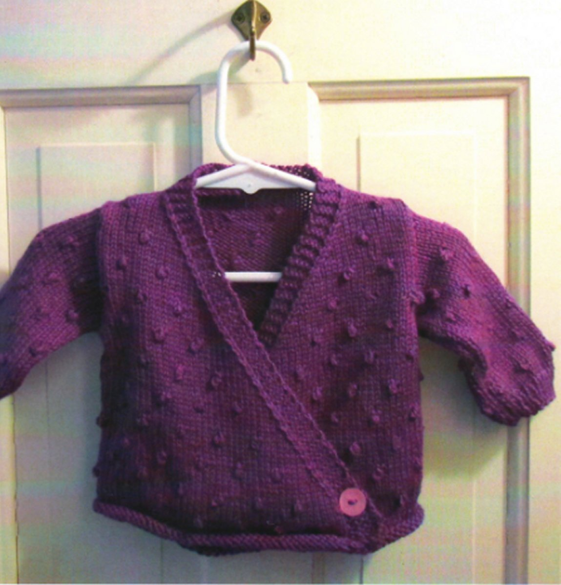 Plymouth Baby & Children Patterns - 2740 Crossover Baby Cardigan Pattern ...