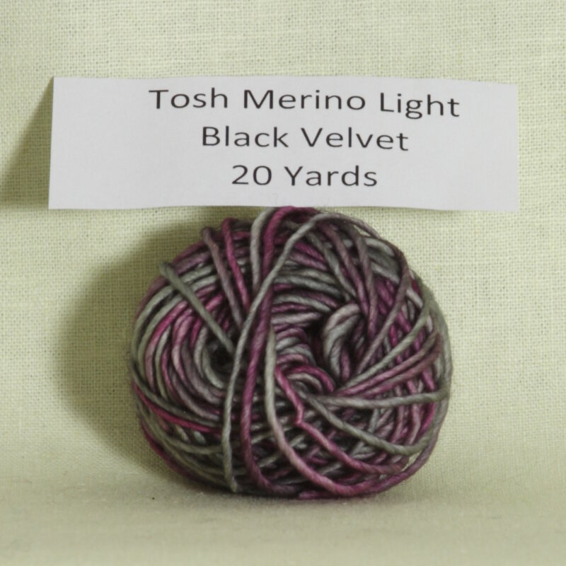 madelinetosh tosh merino light samples yarn black velvet at jimmy. Black Bedroom Furniture Sets. Home Design Ideas