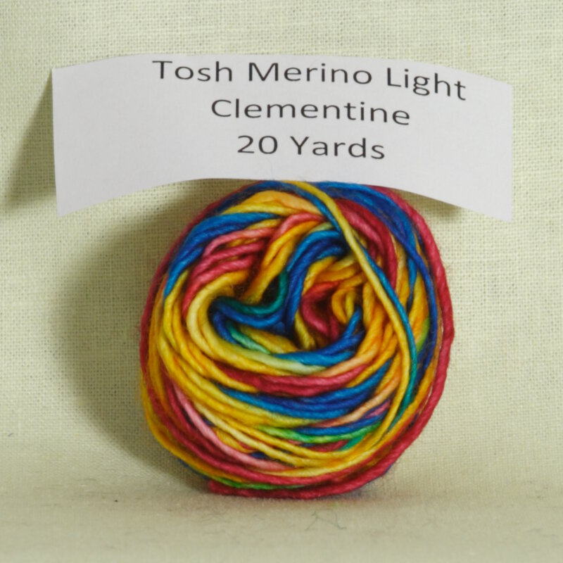 madelinetosh tosh merino light samples yarn clementine at jimmy. Black Bedroom Furniture Sets. Home Design Ideas