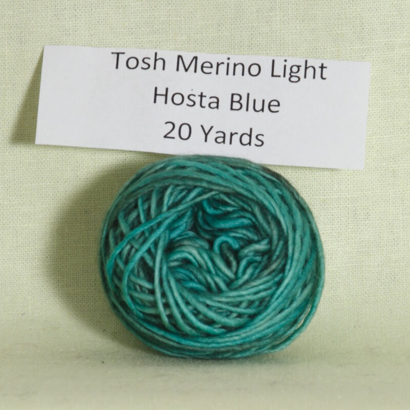 madelinetosh tosh merino light samples yarn hosta blue at jimmy. Black Bedroom Furniture Sets. Home Design Ideas