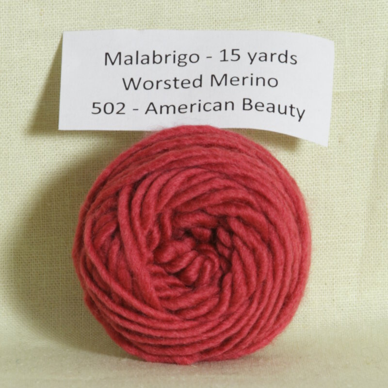 Malabrigo worsted merino samples yarn 502 american for Beauty project ideas