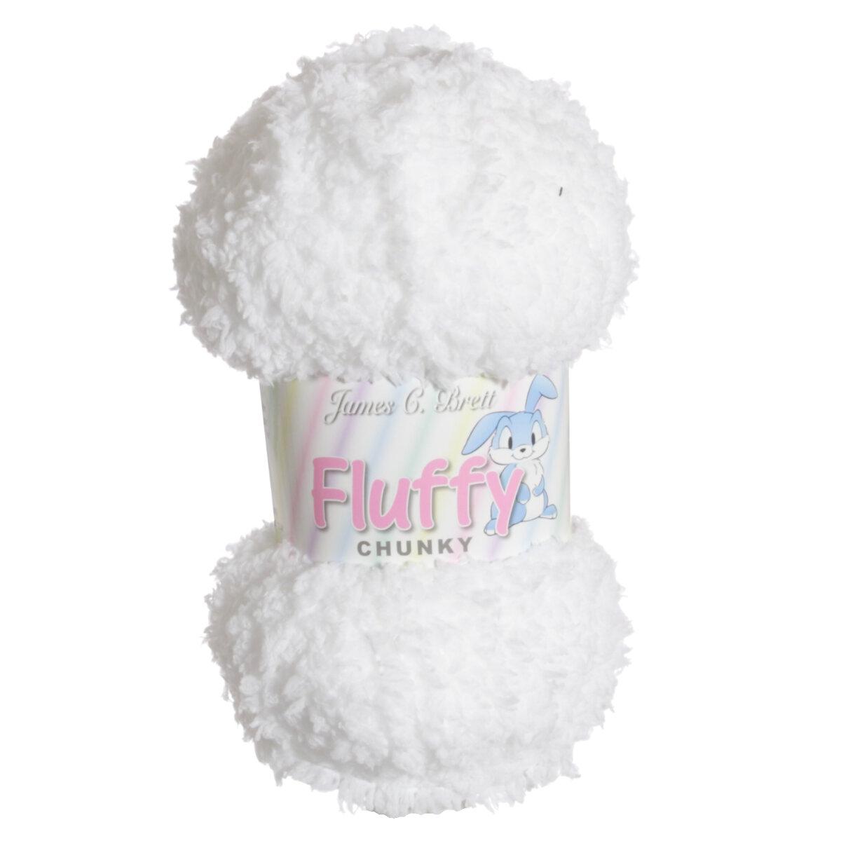 James C. Brett Fluffy Chunky Yarn - 04 White at Jimmy ...