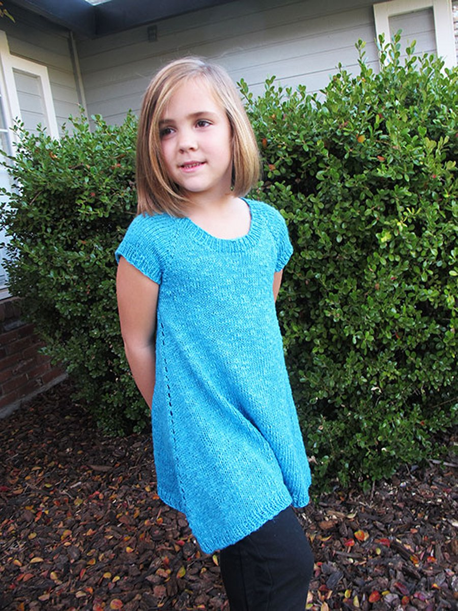 Knitting Pure and Simple Baby & Children Patterns - 1502 - Girls Top ...