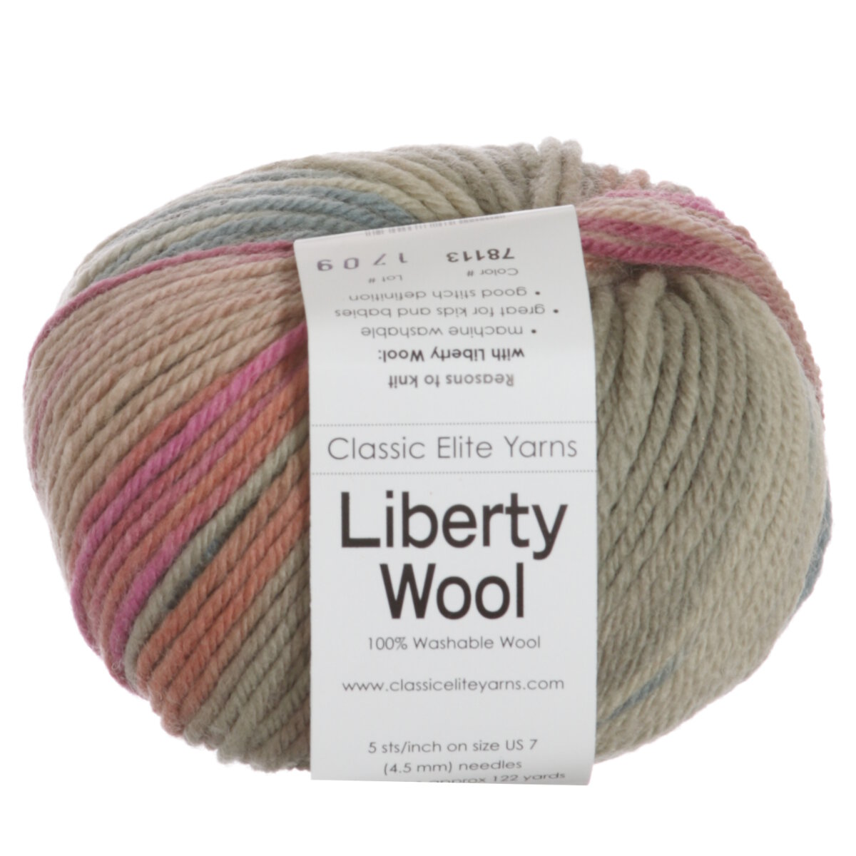 Classic Elite Liberty Wool Print Yarn - 78113 Pink Shadow at Jimmy Beans Wool