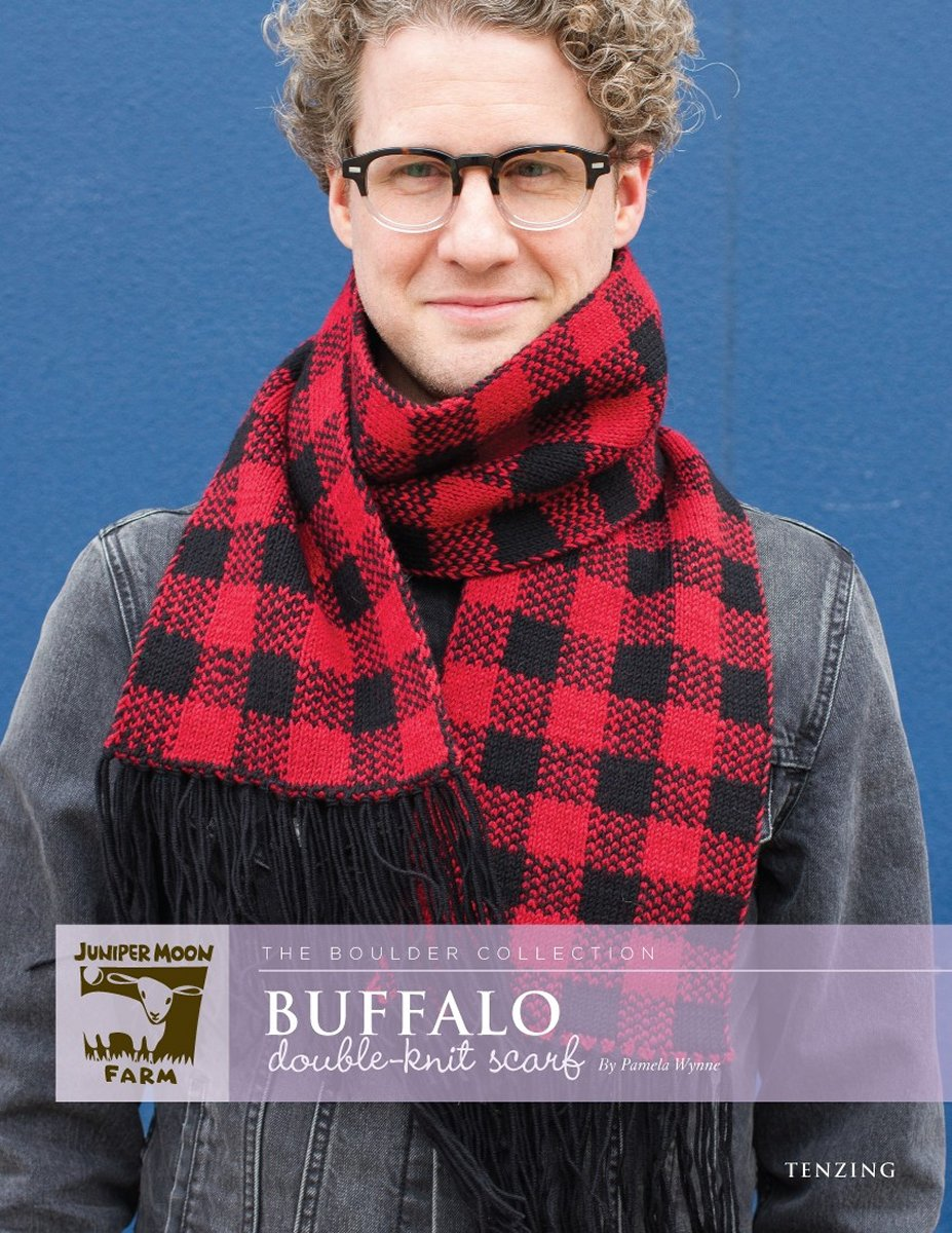 Juniper moon farm the boulder collection patterns buffalo double buffalo double knit scarf pattern shown image 1 bankloansurffo Image collections