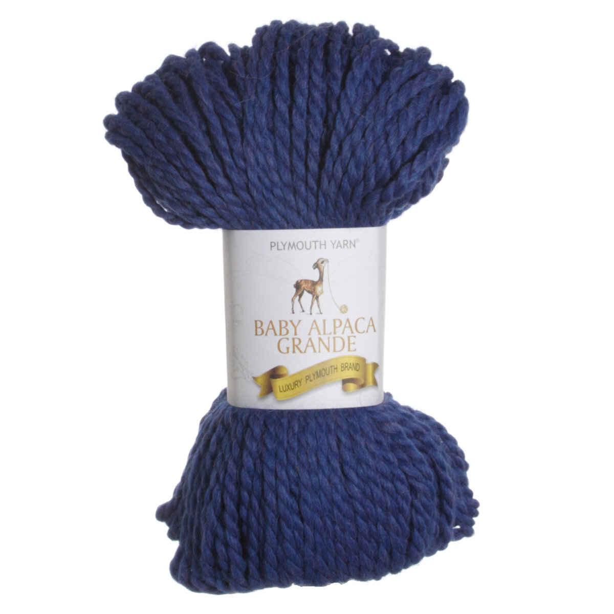 Plymouth Yarn Baby Alpaca Grande Yarn 7706 Blue Heather