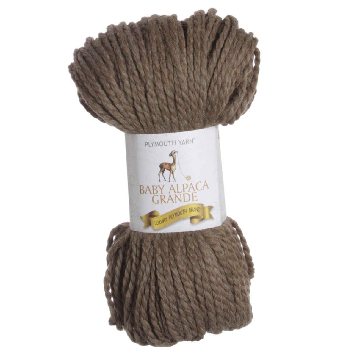 Plymouth Yarn Baby Alpaca Grande Yarn 7711 Wood Heather