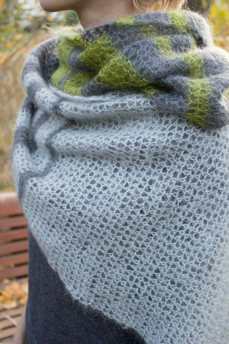Rowan Kidsilk Haze Color Block Wrap - Yarn & Pattern ...