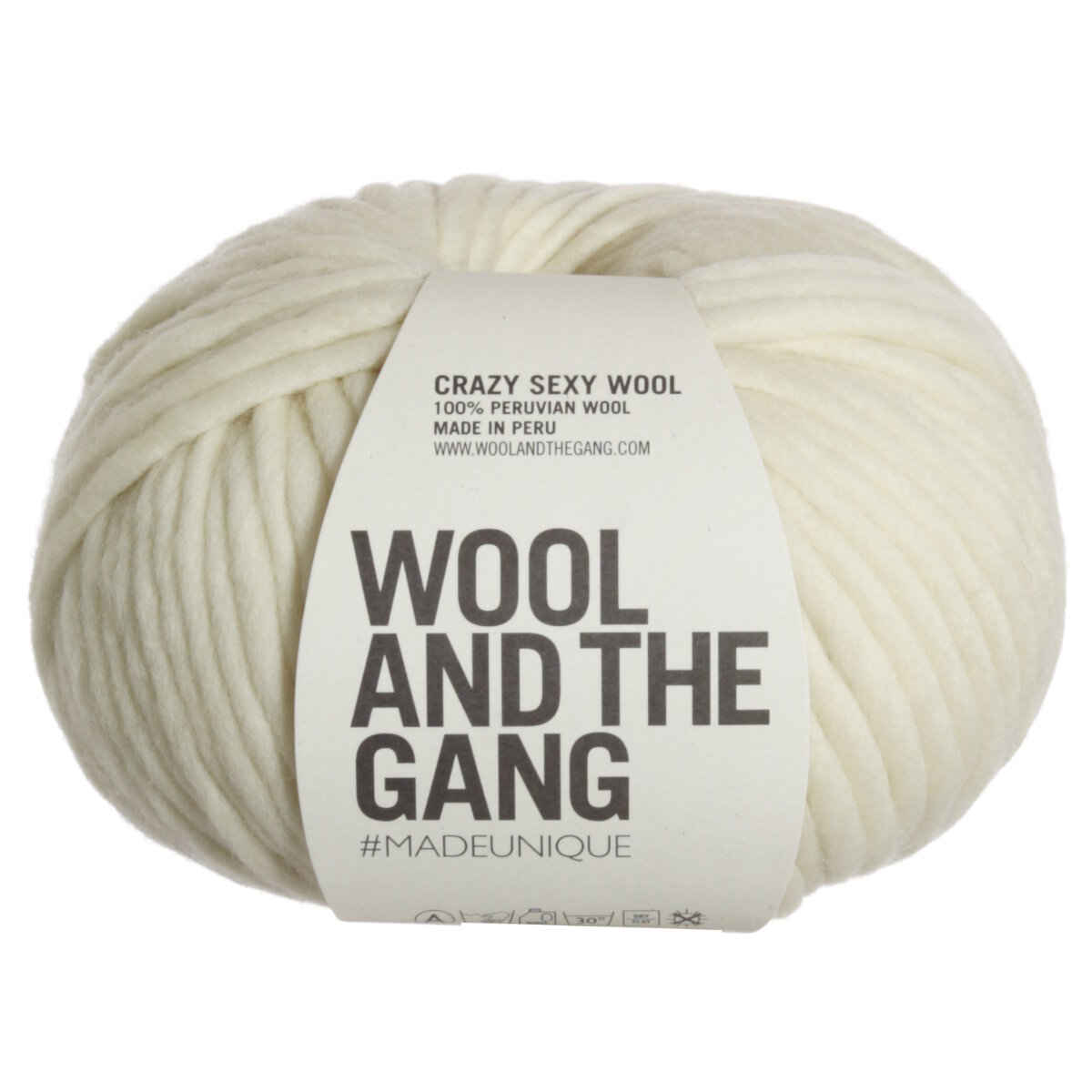 Wool and the gang crazy sexy wool yarn ivory white at - Gang and the wool ...