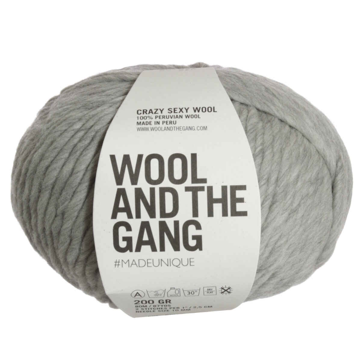 Wool and the gang crazy sexy wool yarn rocky grey - Gang and the wool ...