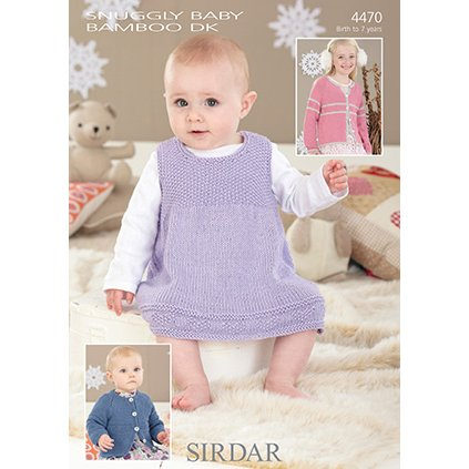 4fd867202 Sirdar Snuggly Baby and Children Patterns - 4470 Pinafore and ...
