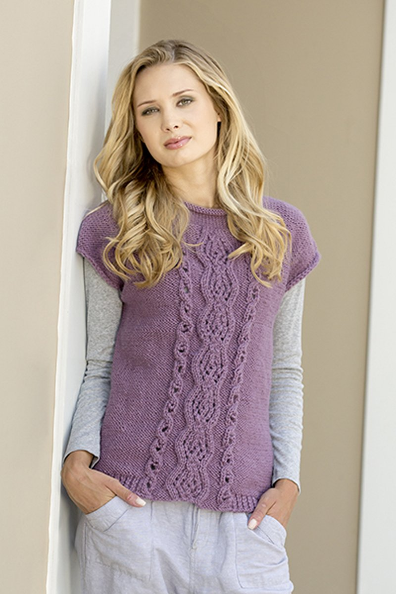 1f31243096fb Universal Yarns Deluxe Cable Collection Patterns - Ballantyne Tee - PDF  DOWNLOAD Pattern. Universal Yarns Deluxe Cable Collection Patterns ...