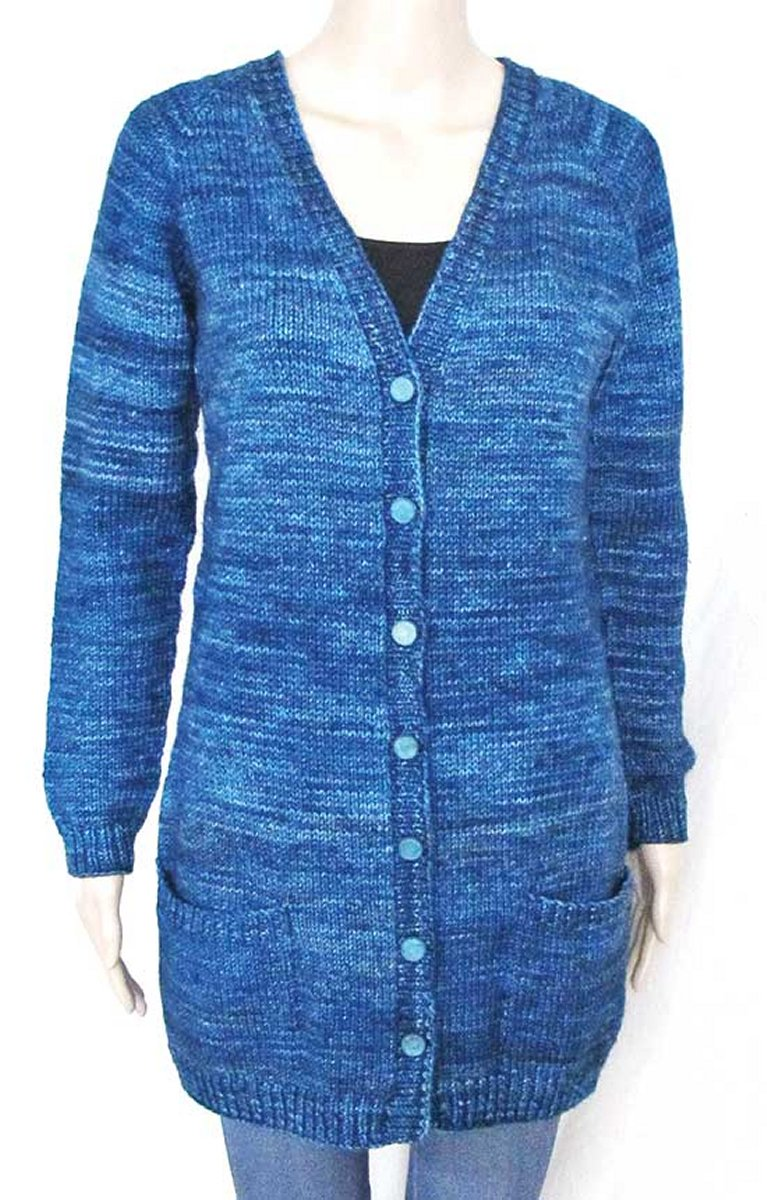 Knitting Pure and Simple Women\'s Cardigan Patterns - 1609 - V-Neck ...