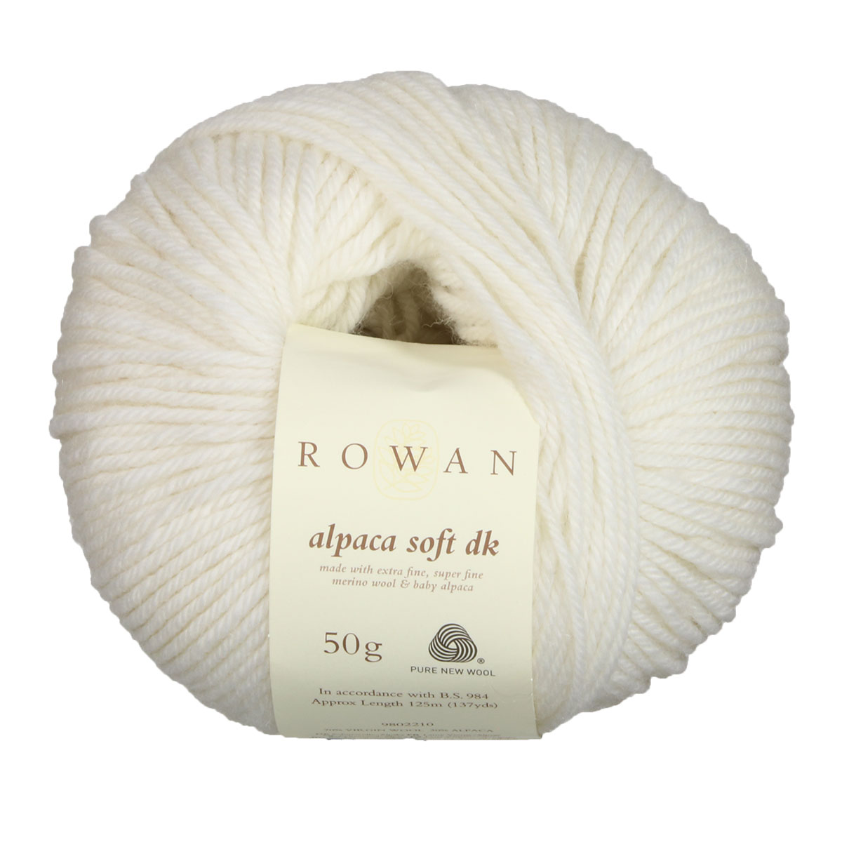 f8a67d1a9 Rowan Alpaca Soft DK Yarn - 201 Simply White at Jimmy Beans Wool