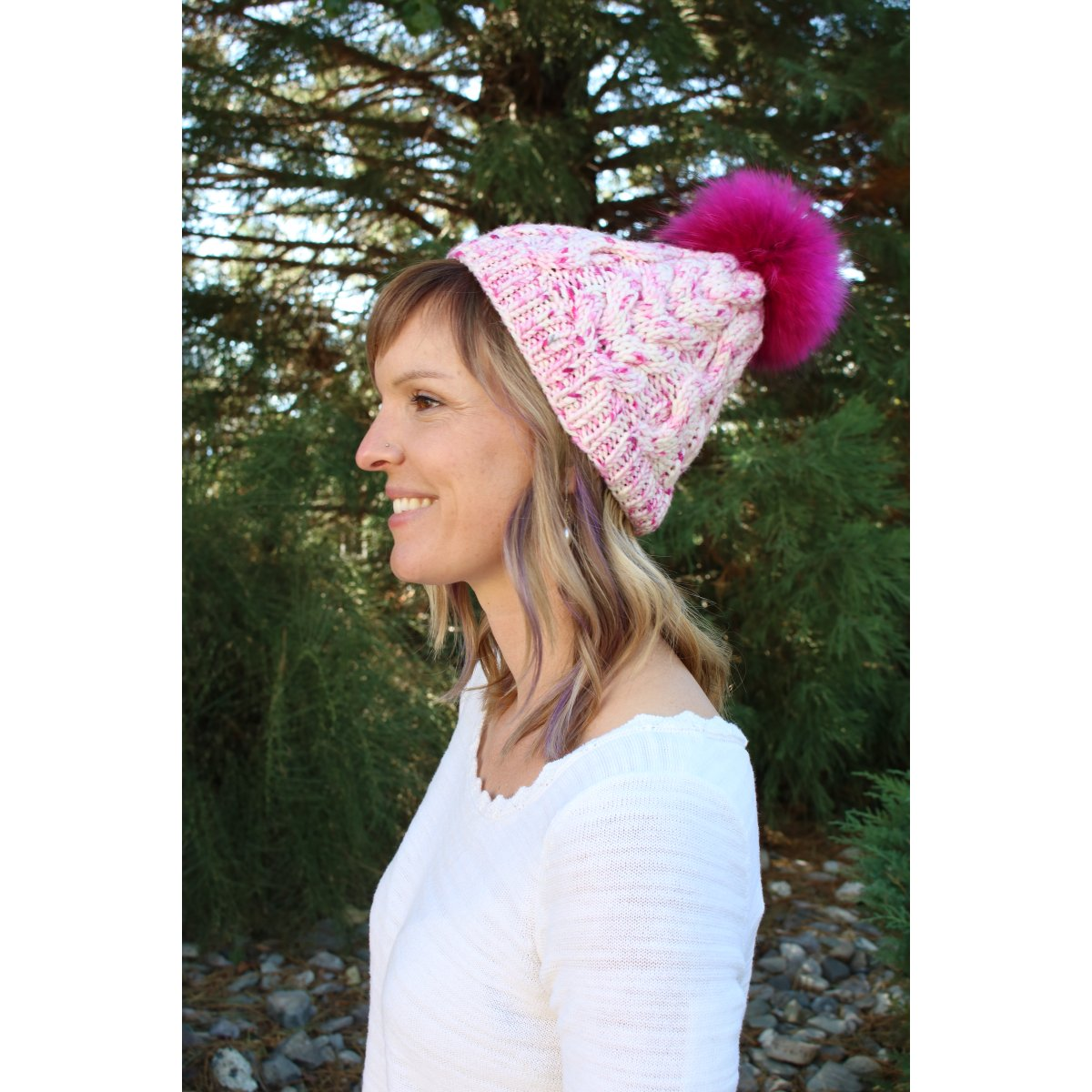 f912e0edac0 Jimmy Beans Wool Breast Cancer Awareness - Pom Pom Hat Kit (Ta Tas ...