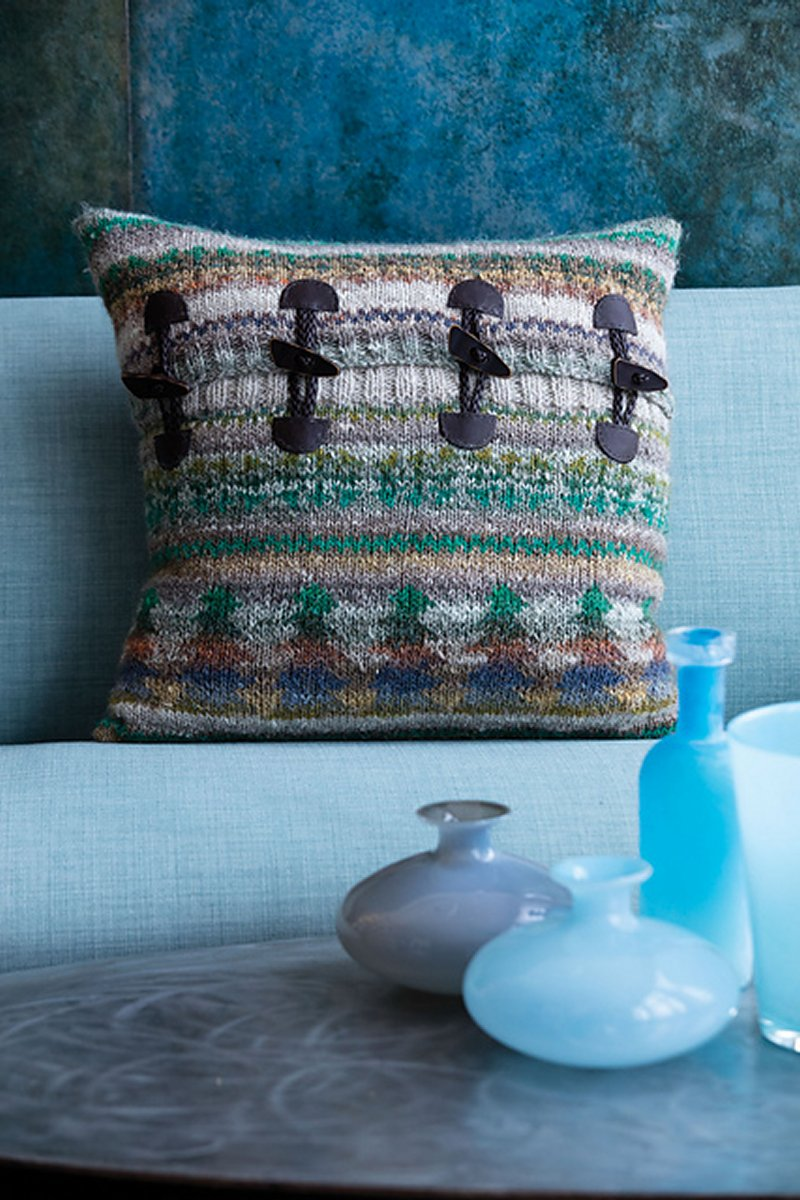 12559b221b4 Noro Patterns - 09 Fair Isle Pillow Cover - PDF DOWNLOAD Pattern at ...