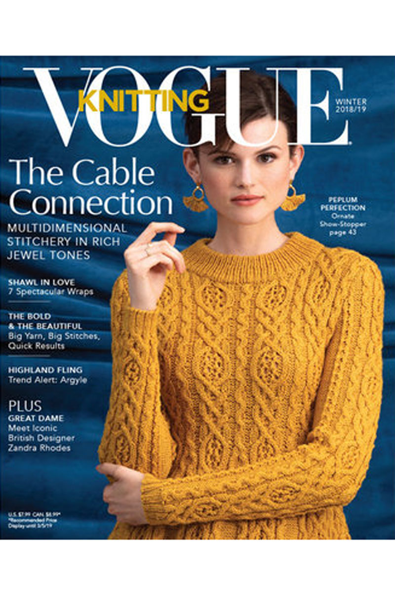 66bb8e3ad78a 4.3 out of 5 stars (4.3 based on 22 reviews). Vogue Knitting Magazine.