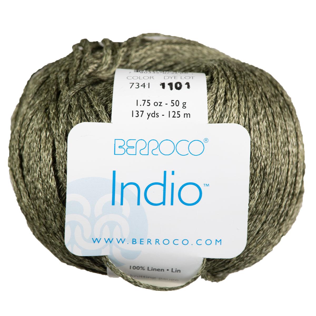 Berroco Linen Stonewash (Indio) Yarn - 7341 Nile (Discontinued)