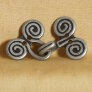 Noble Button Metal Buttons and Clasps Buttons - 3189 - Hook & Eye Clasp with Spirals