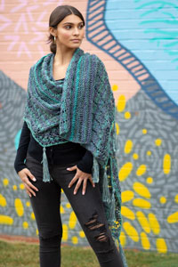 Universal Yarns Patterns - Colorburst - Chroma Collection Patterns - Flicker Wrap - PDF DOWNLOAD photo