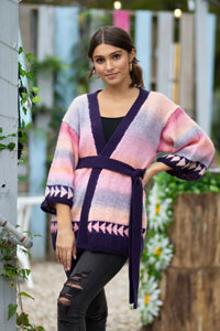 Universal Yarns Patterns - Colorburst - Chroma Collection Patterns - Slant Cardigan - PDF DOWNLOAD photo