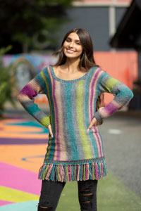 Universal Yarns Patterns - Colorburst - Chroma Collection Patterns - Sweep Pullover - PDF DOWNLOAD photo
