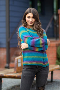 Universal Yarns Patterns - Colorburst - Chroma Collection Patterns - Tourmaline Pullover - PDF DOWNLOAD photo