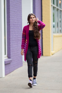 Universal Yarns Patterns - Colorburst - Chroma Collection Patterns - Virtuoso Cardigan - PDF DOWNLOAD photo