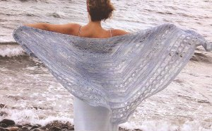 CPY Panda Silk Queen of the Waves Shawl Kit - Scarf and Shawls