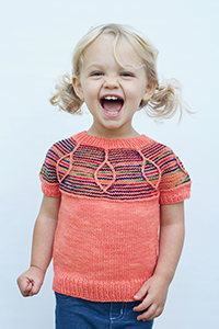 Madelinetosh Solar Flare Pullover Kit - Baby and Kids Pullovers