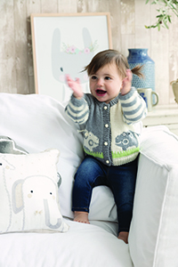 Cascade #8 Baby Hippo Cardigan Kit - Baby and Kids Cardigans
