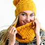 Kelbourne Woolens #18 Diamond Hive Cowl & Hat Kit