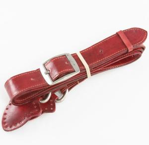 Grayson E Large Wide Leather Handles - Red