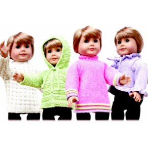 "Knitting at Knoon Patterns - 18"" Doll Sweaters: One Pattern"
