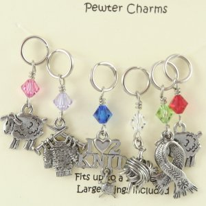 KnitWit Momma Pewter Stitch Markers