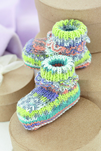Sirdar Snuggly Baby Booties Kit - Baby and Kids Socks