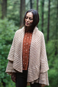 Biches et Buches Growth Rings Shawl Kit - Scarf and Shawls