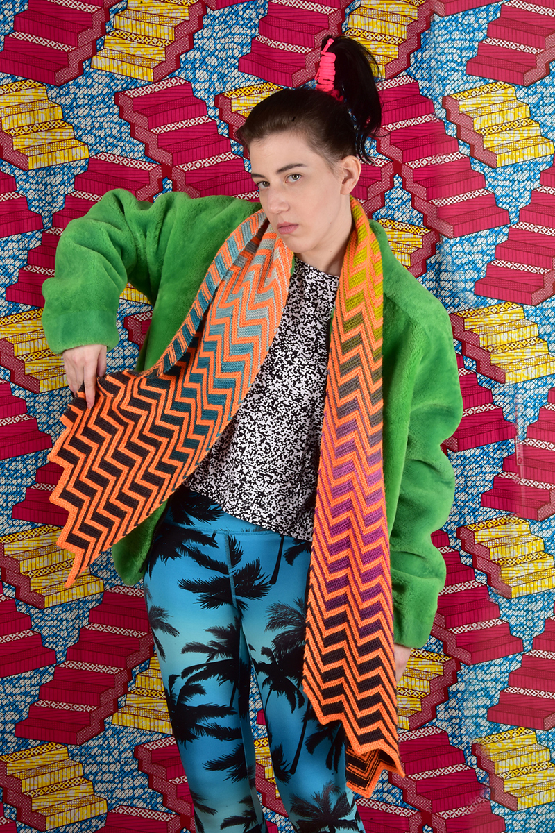 Freia & Madelinetosh Zebra Crossing Scarf Kit - Scarf and Shawls