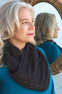 Cascade Mirror of Erised Cabled Cowl Kit - Scarf and Shawls