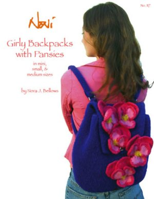 Noni Patterns - Girly Backpacks with Pansies Pattern
